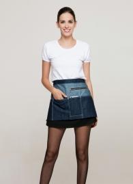 Фартуки джинсовые без грудки